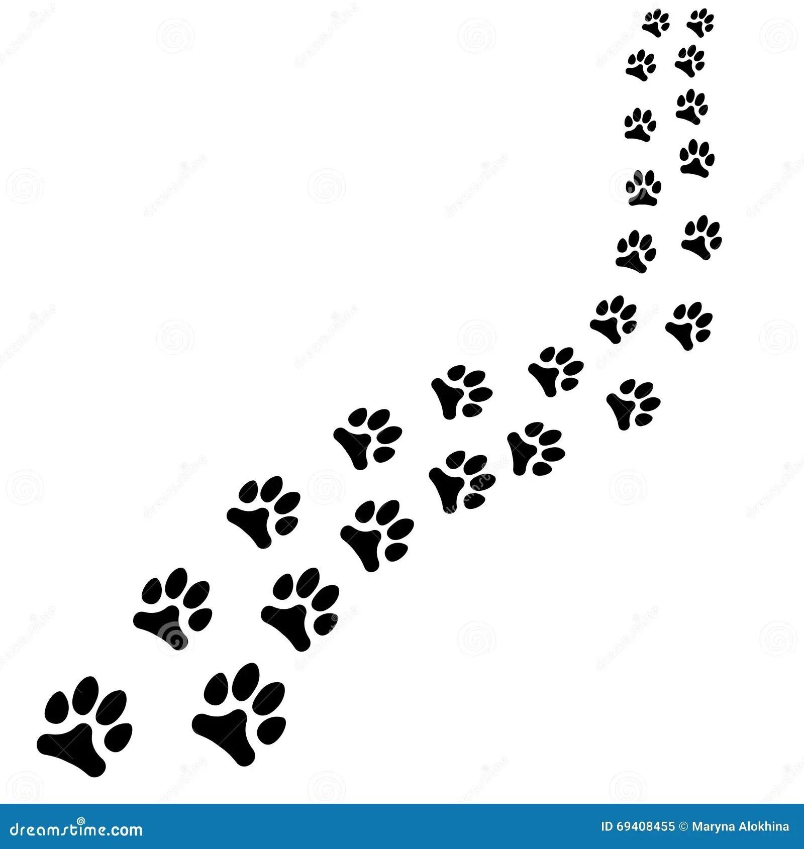 Footprints Illustration Isolated On White Royalty Free Cartoon