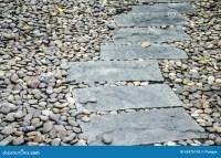 Path Way On Pebble Stone Stock Photo - Image: 42475193