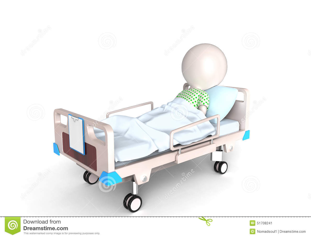 Patient In Bed Stock Illustration  Image 51708241