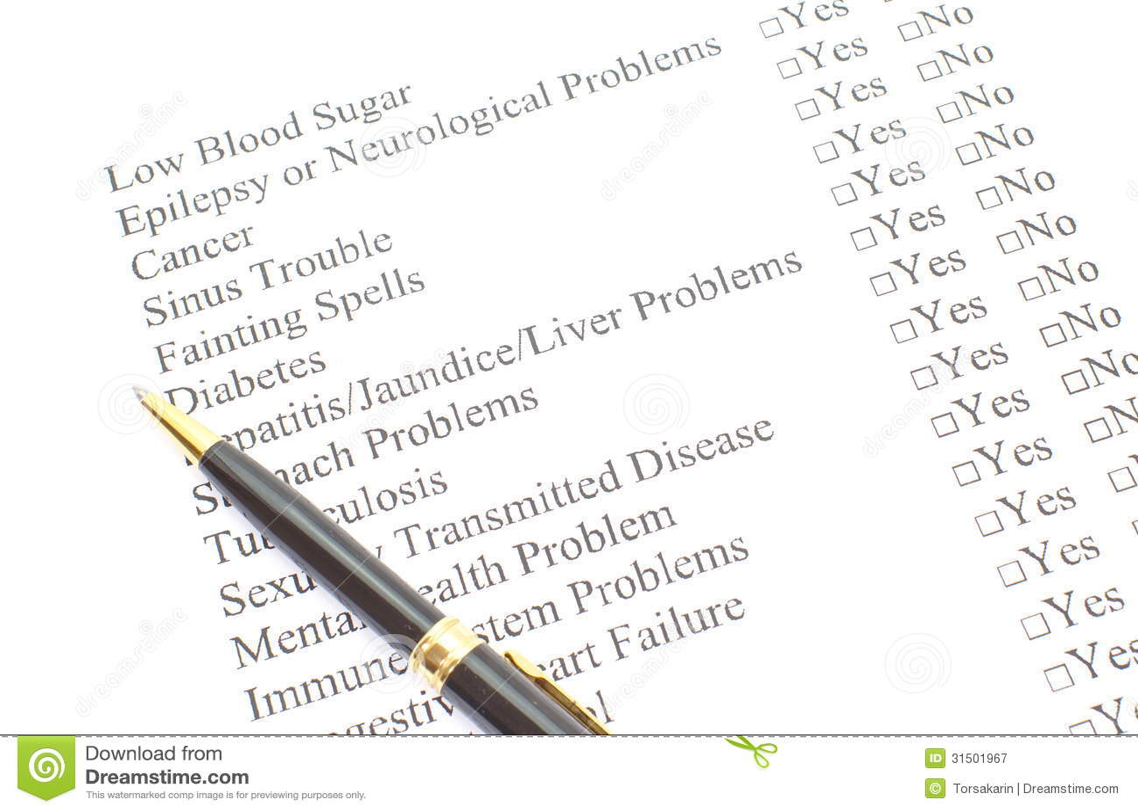 Patient Form stock image. Image of patient, health, exam