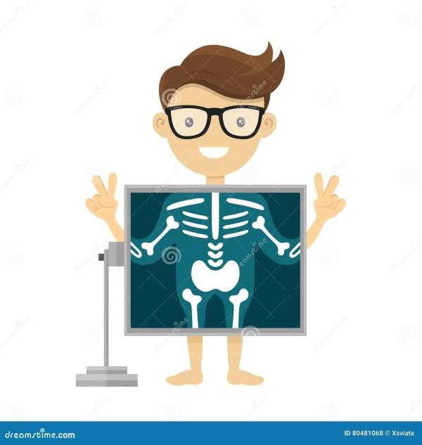 Patient X-ray Procedure. Vector Radiologist