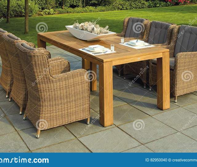 Patio Table In Garden Free Public Domain Cc Image Download Preview