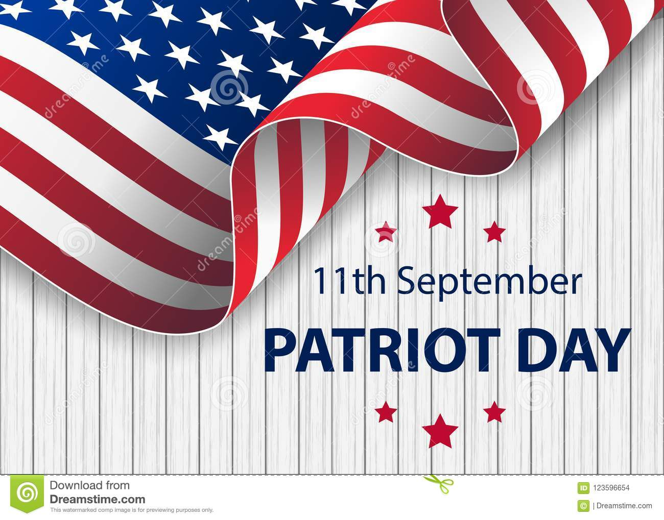 Patriot Day September 11 We Will Never Forget Stock