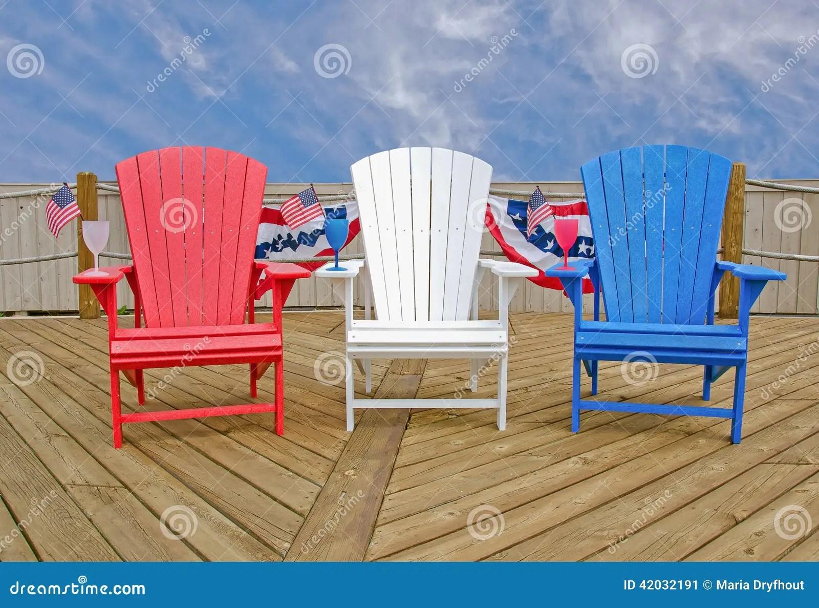 american flag chair monogrammed bean bag chairs kids patriotic adirondack stock image of bright