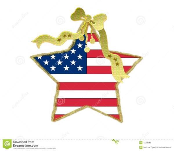 Patriotic Christmas Decoration Stock - Of Flag