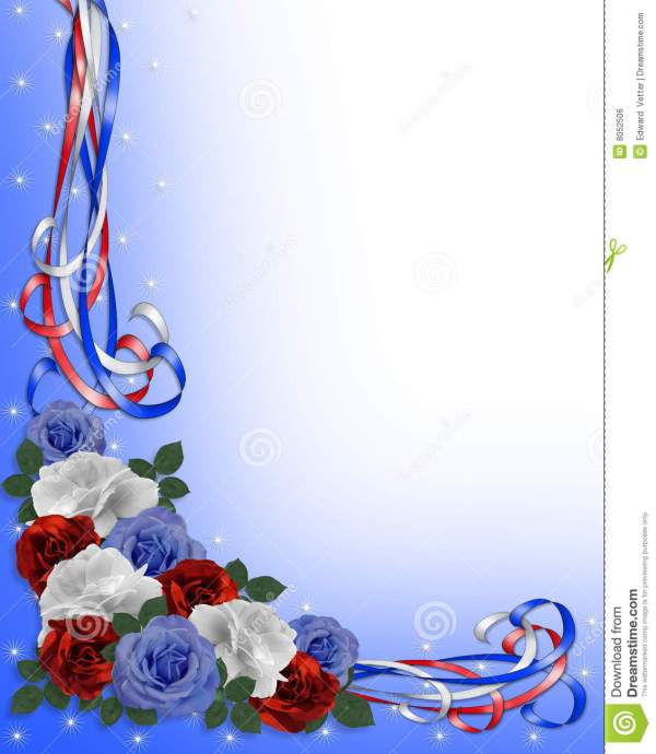 Wedding Invitation 4th Of July Memorial Day Background