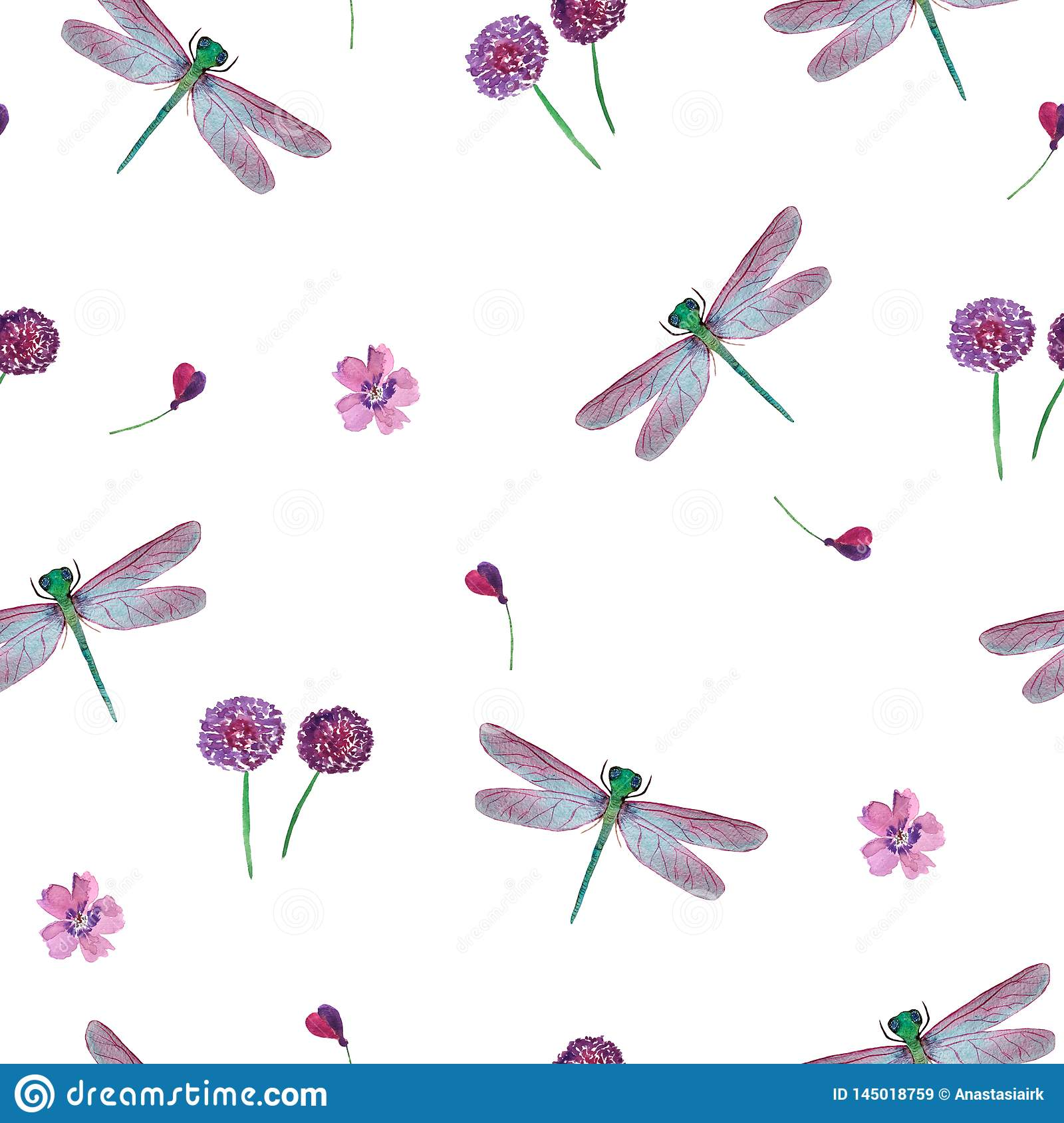 pattern of dragonflies and