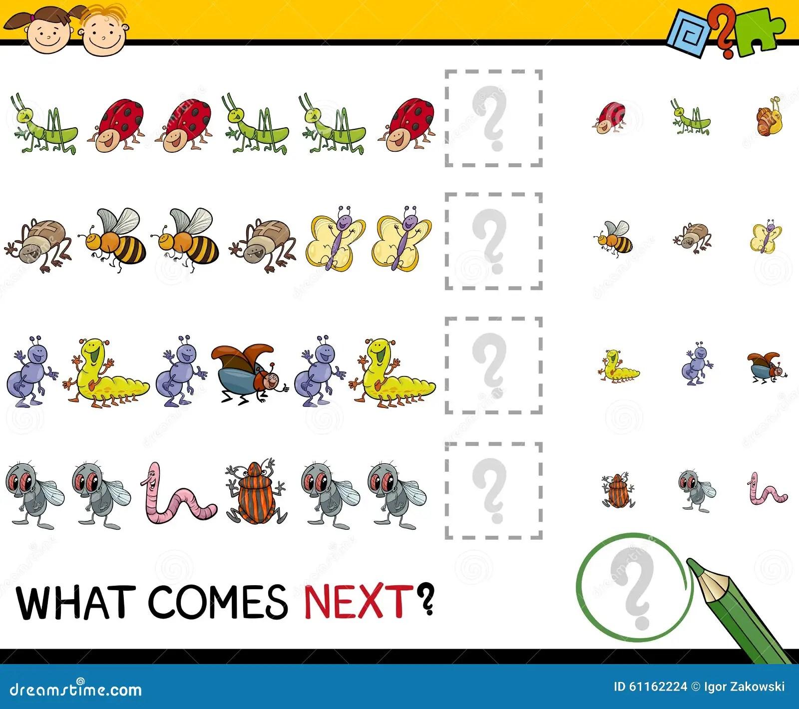 Pattern Task For Preschool Kids Stock Vector