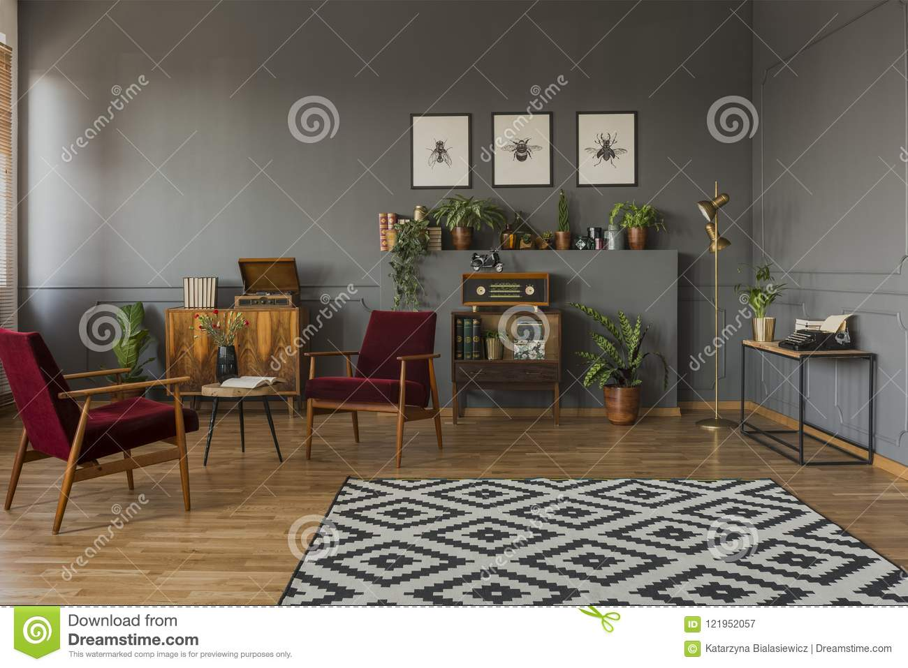 dark grey living room carpet furniture arrangement examples patterned in interior with red wood