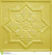 Patterns On The Ceiling Gypsum Sheets Royalty-Free Stock ...