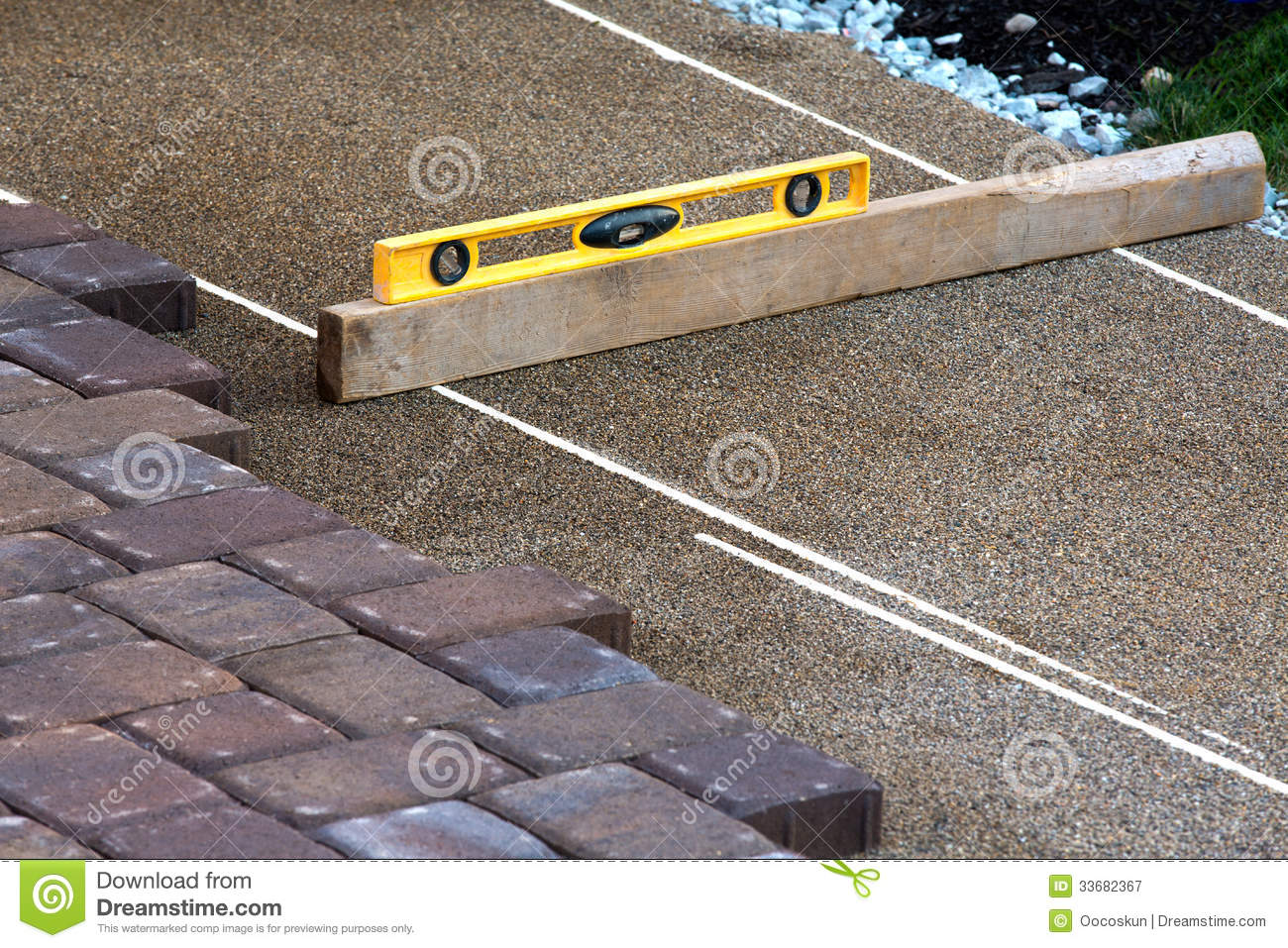 Pavers Ruler Royalty Free Stock Photography  Image 33682367