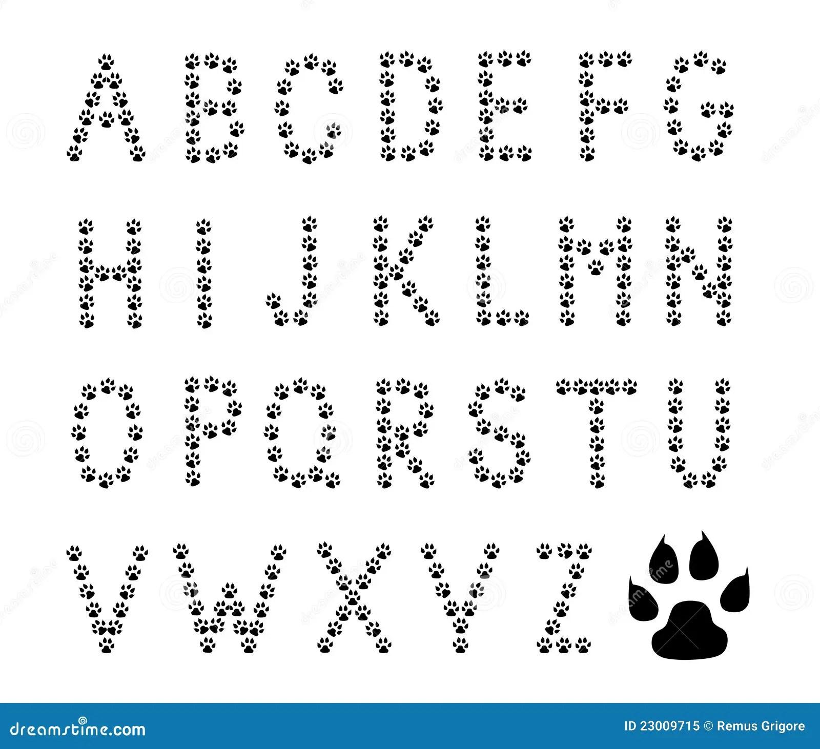 Paw Prints Alphabet