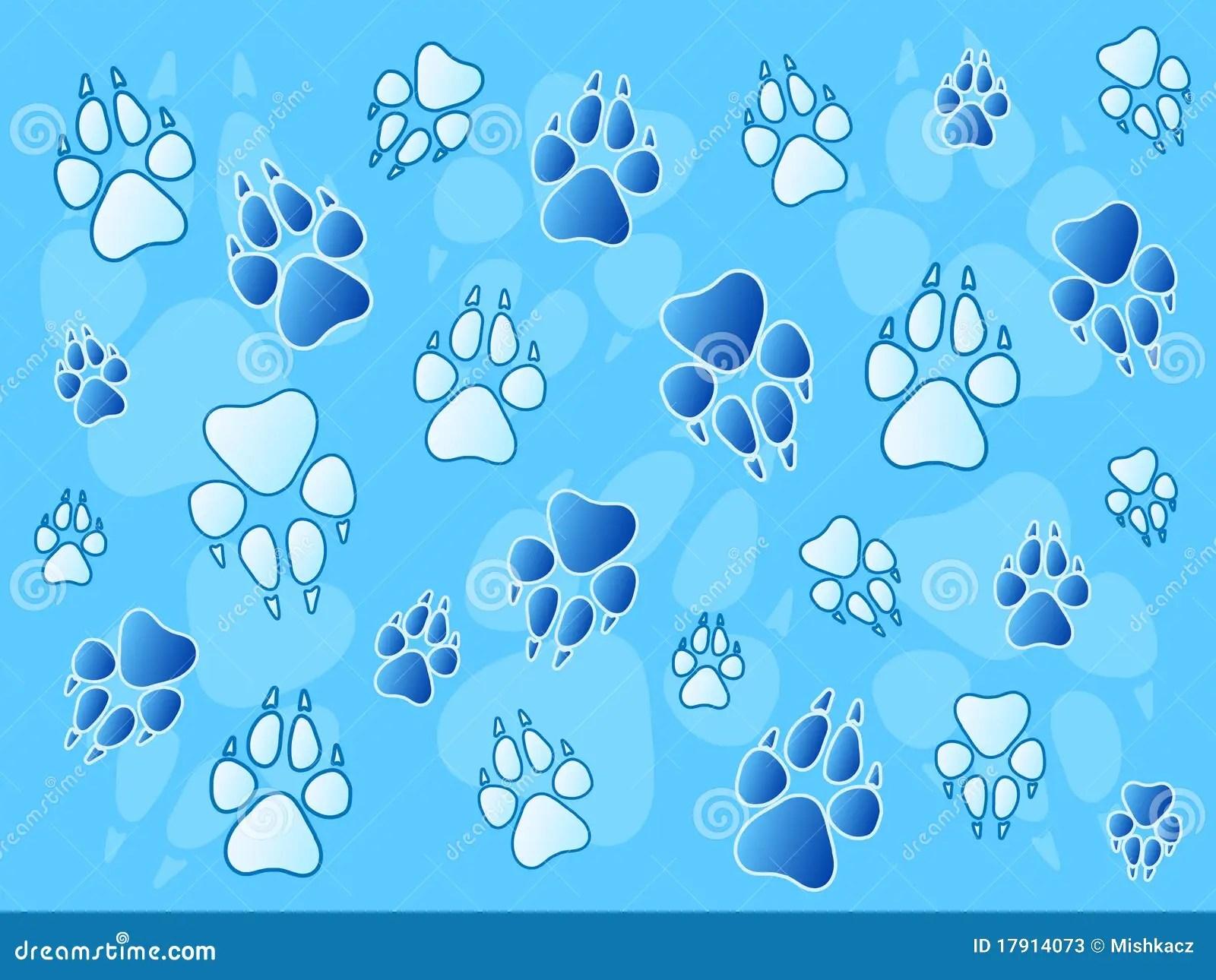Animal Print Wallpaper Border Paw Prints Background Stock Photos Image 17914073