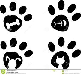 paws paw print cute cats dogs background pets dog isolated clip vector royalty grunge element illustration dreamstime uploaded user