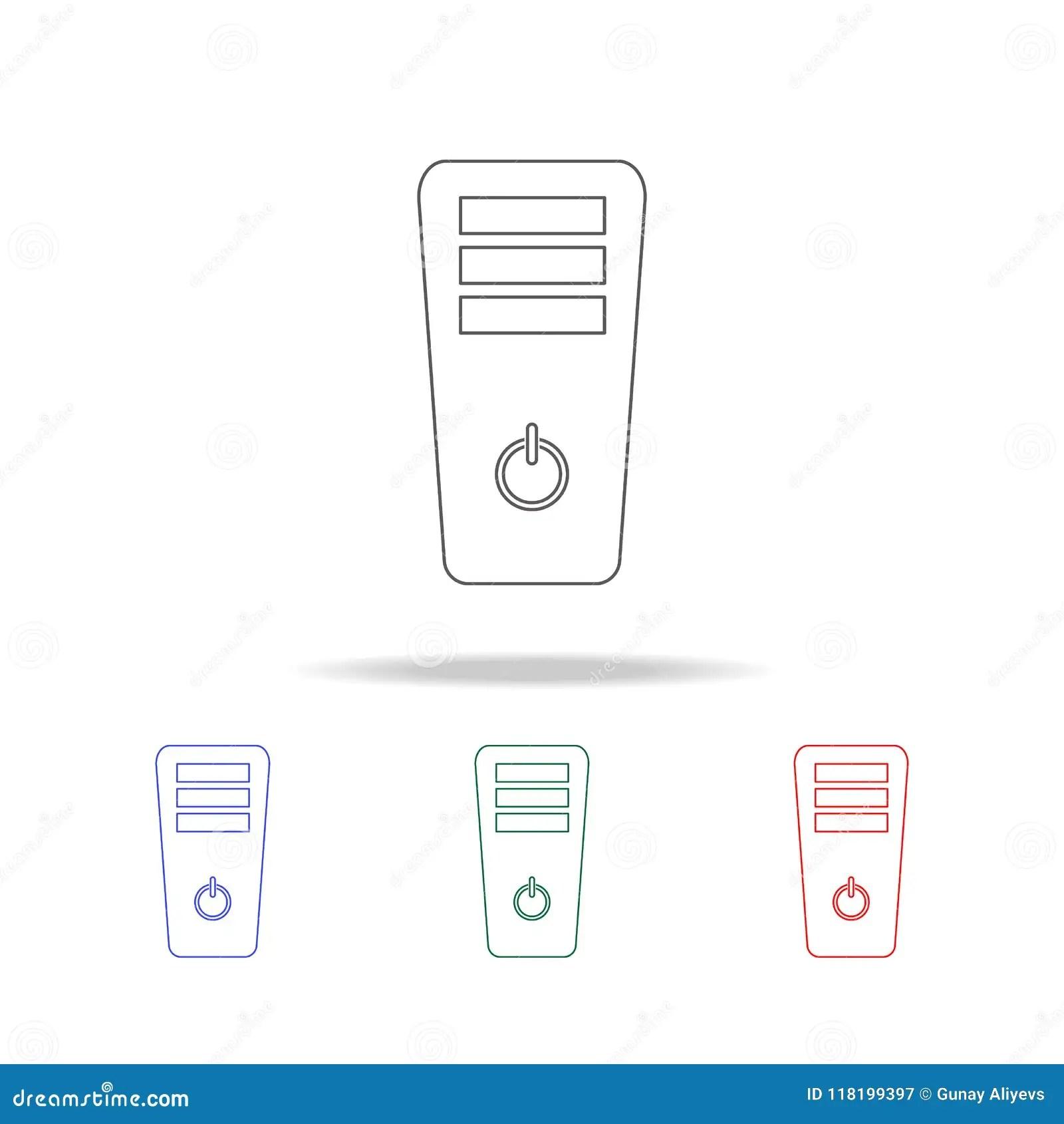 realistic device flat icons cartoon vector