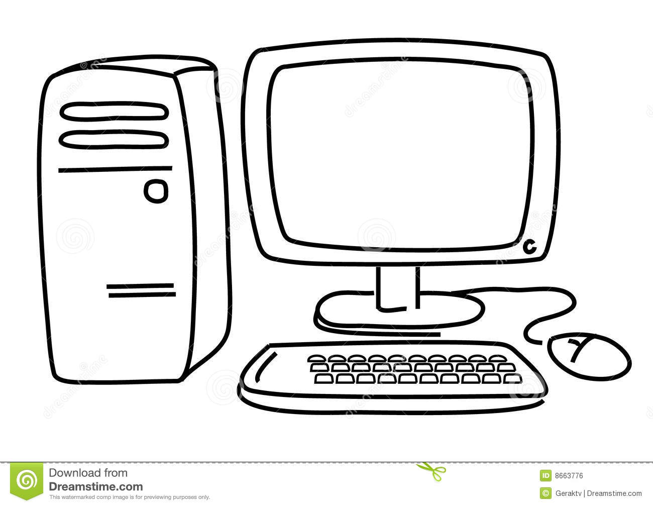 Pc Computer Stock Vector Illustration Of Knowledge