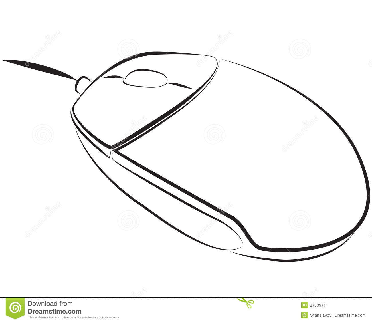 Pc mouse stock illustration. Illustration of order