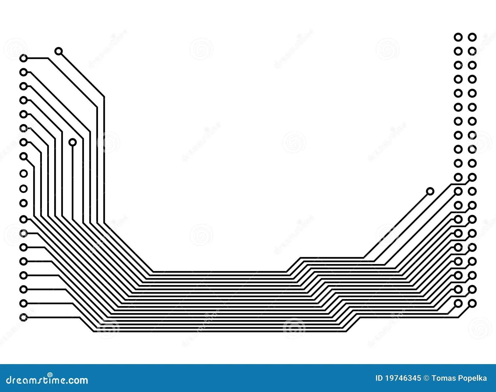 PCB (printed Circuit Board) Stock Illustration