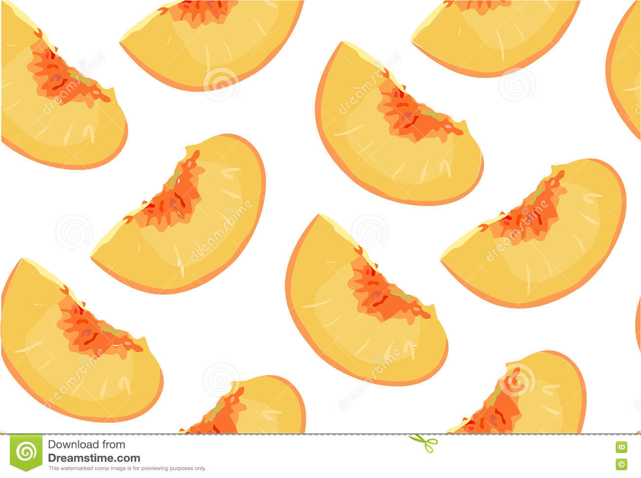 hight resolution of peach nectarine ripe fresh sliced fruit citrus seamless pattern vector square closeup side view beautiful orange