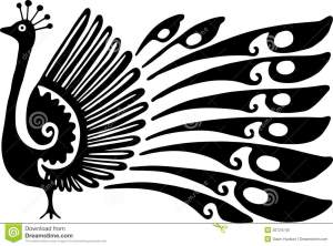 line drawing peacock simple decorative illustration clipart drawings graphics clip royalty vector minimalist shutterstock tropical fish inside artwork graphic getdrawings