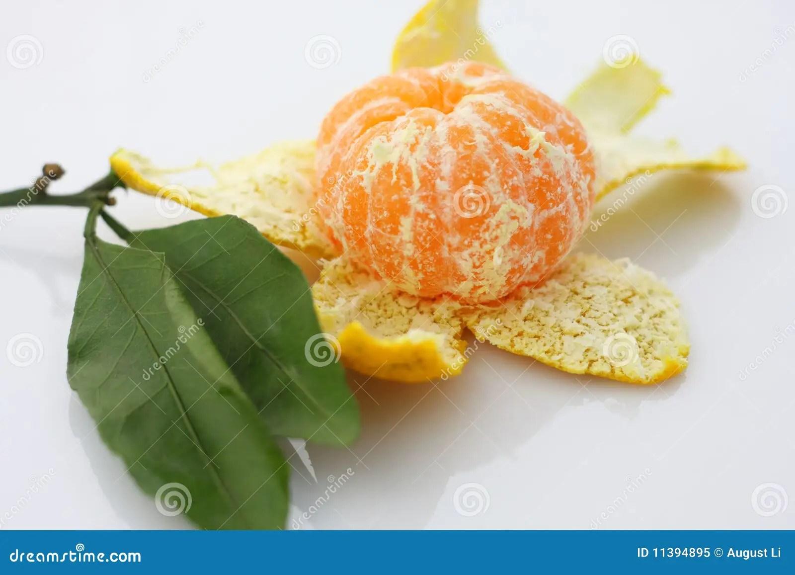 Peeled mandarin stock image. Image of crop. juicy. organic - 11394895