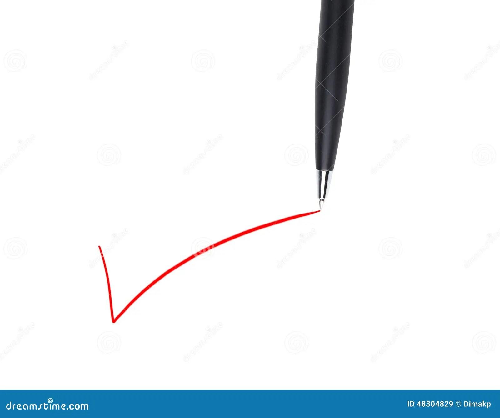 Pen check mark stock image. Image of close, checkbox