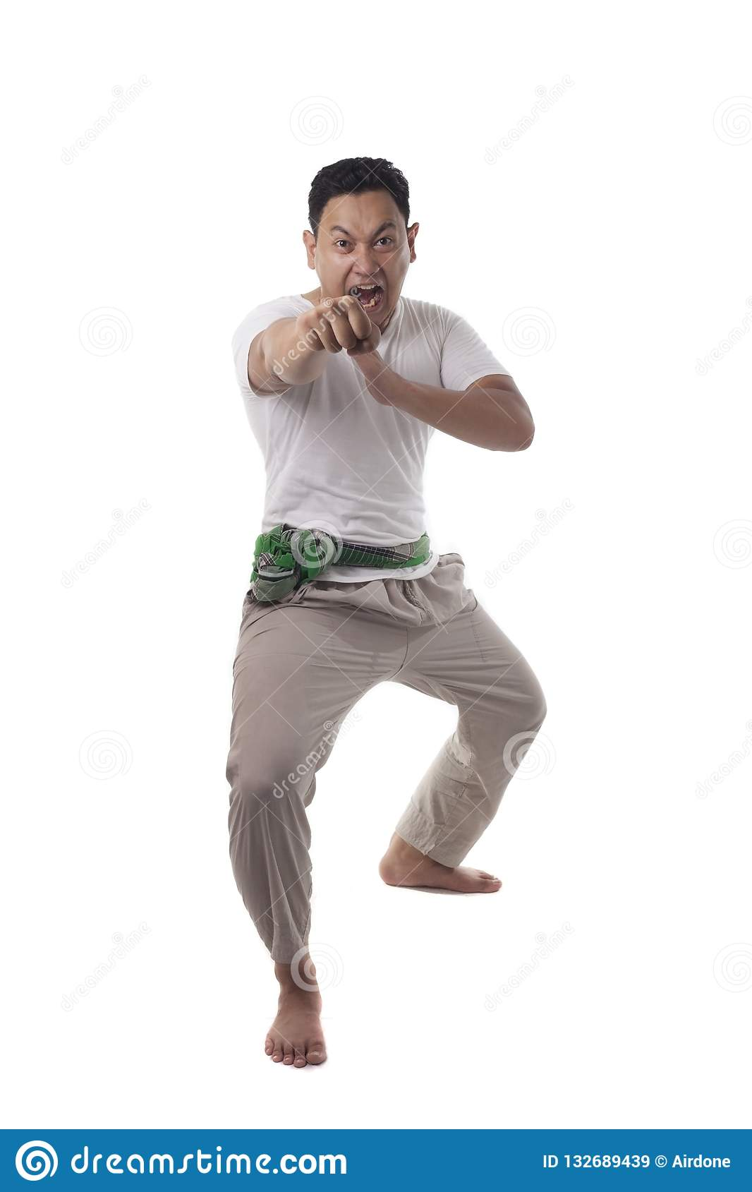Foto Jurus Pencak Silat : jurus, pencak, silat, Pencak, Silat,, Indonesian, Traditional, Martial, Stock, Image, Freehand,, Karate:, 132689439