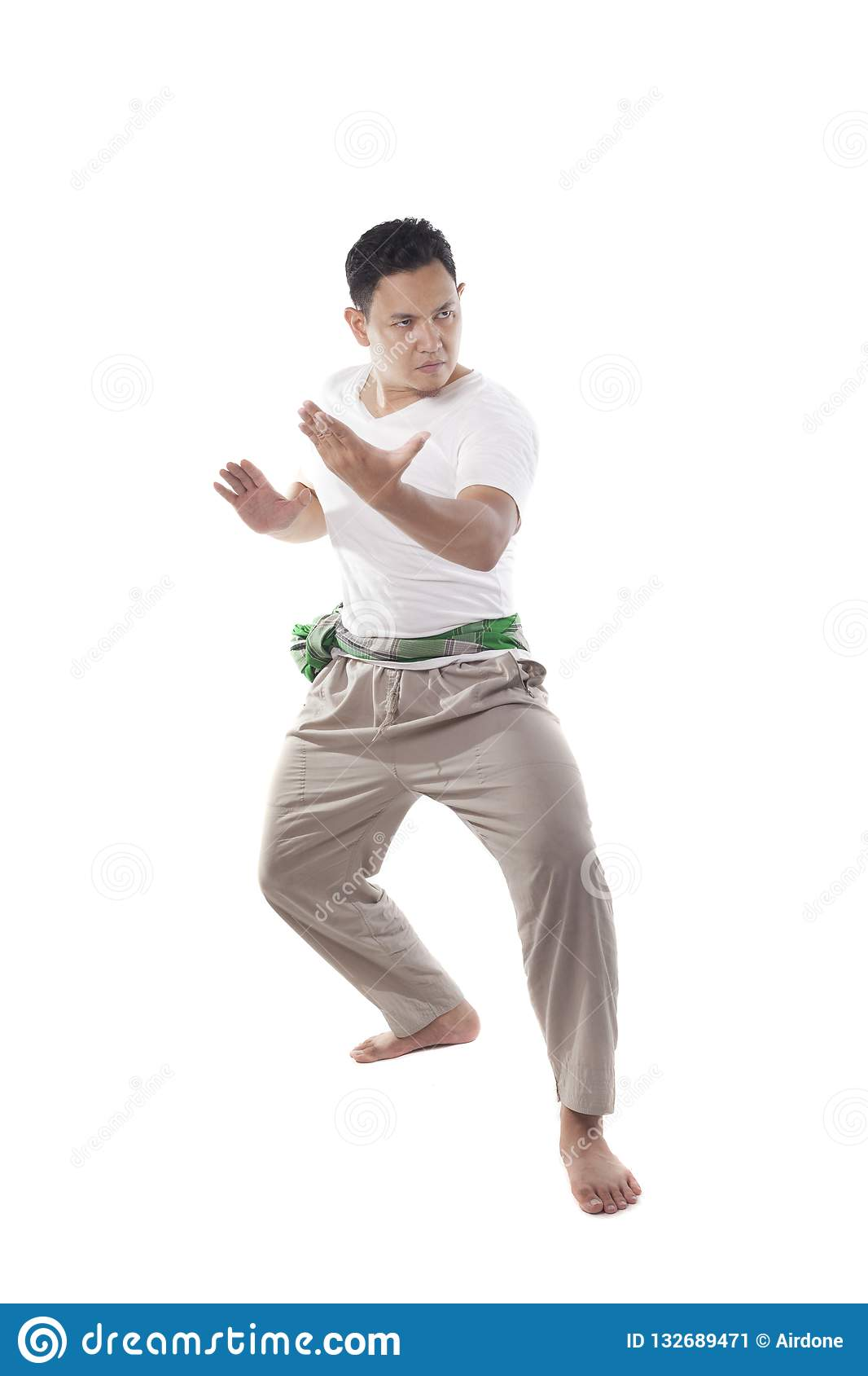 Foto Jurus Pencak Silat : jurus, pencak, silat, Pencak, Silat,, Indonesian, Traditional, Martial, Stock, Image, Indoors,, Discipline:, 132689471
