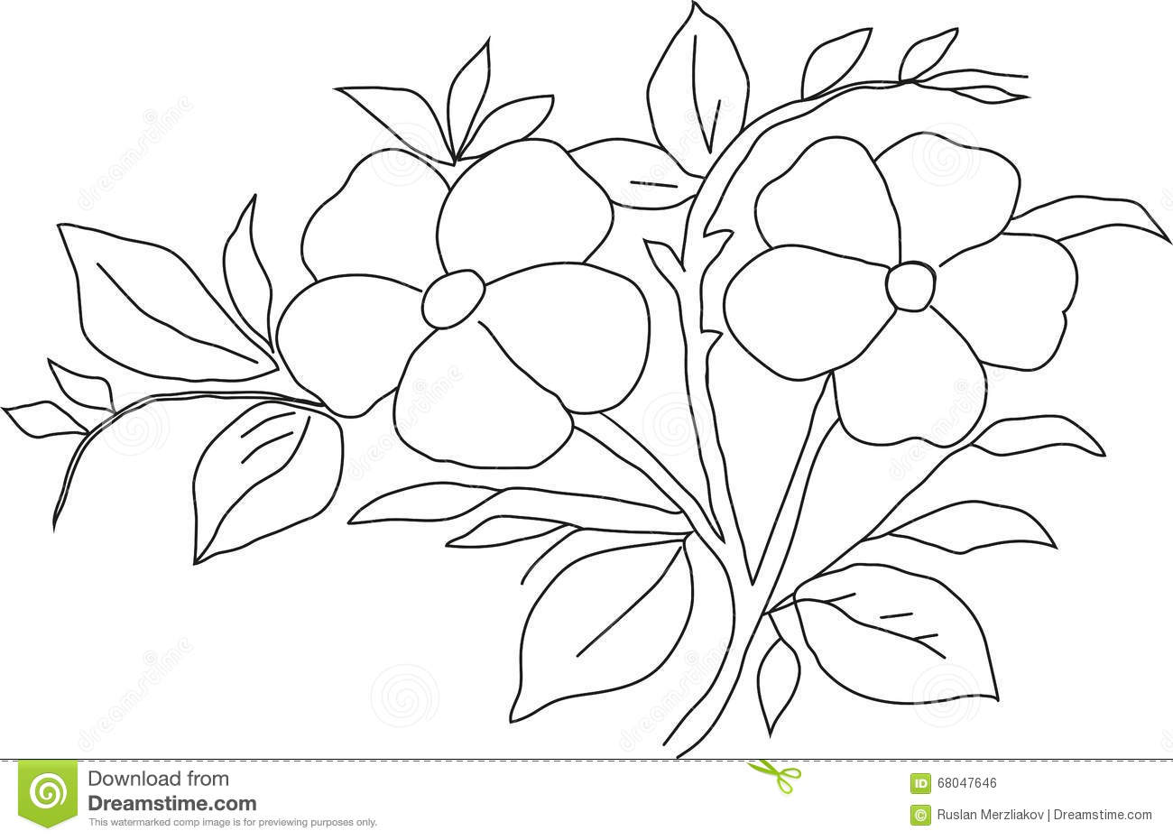Pencil drawing violet stock illustration. Illustration of
