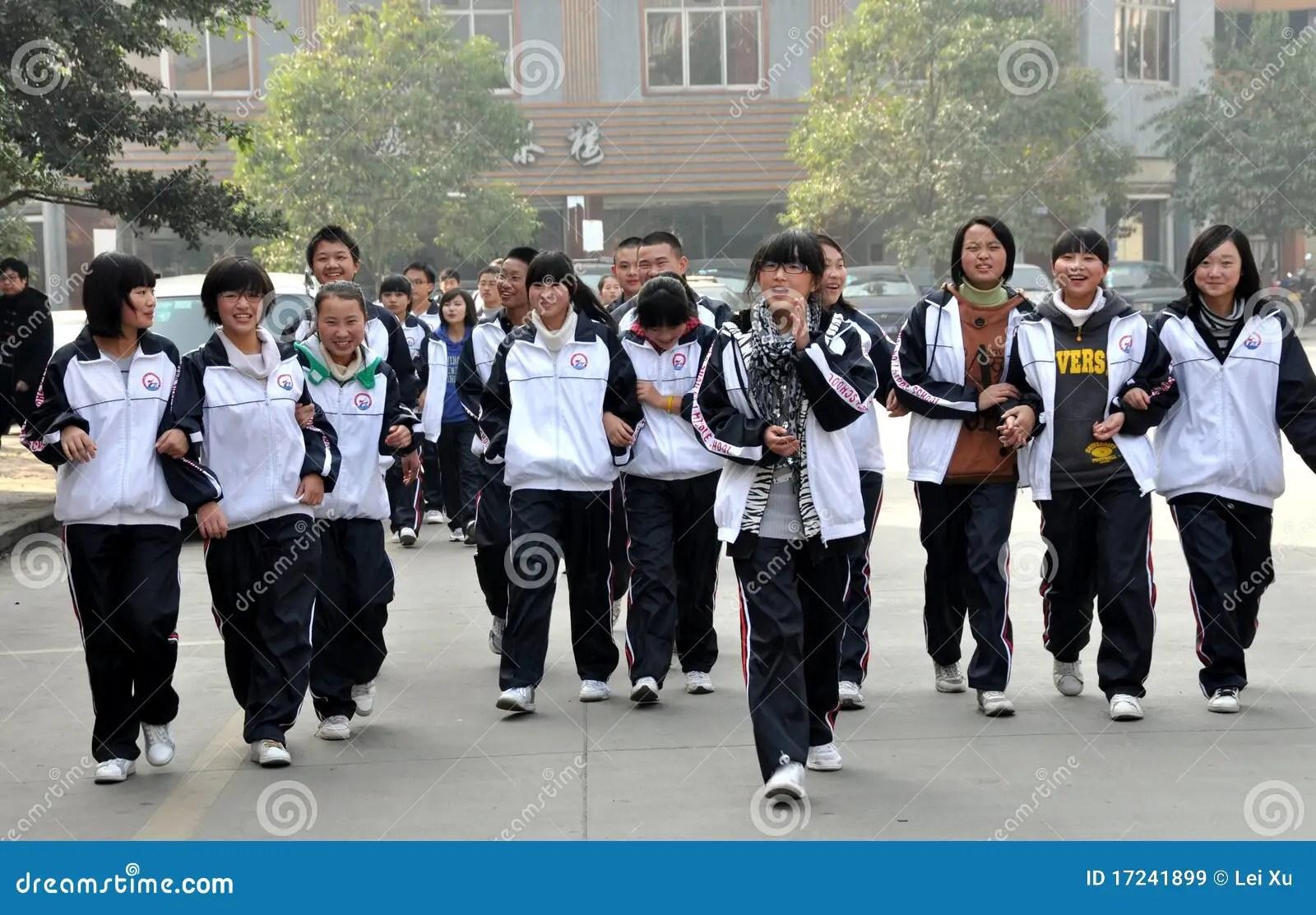 Pengzhou China Teenage High School Students Editorial