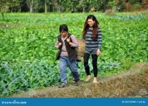 Pengzhou China Two Women Farm Editorial