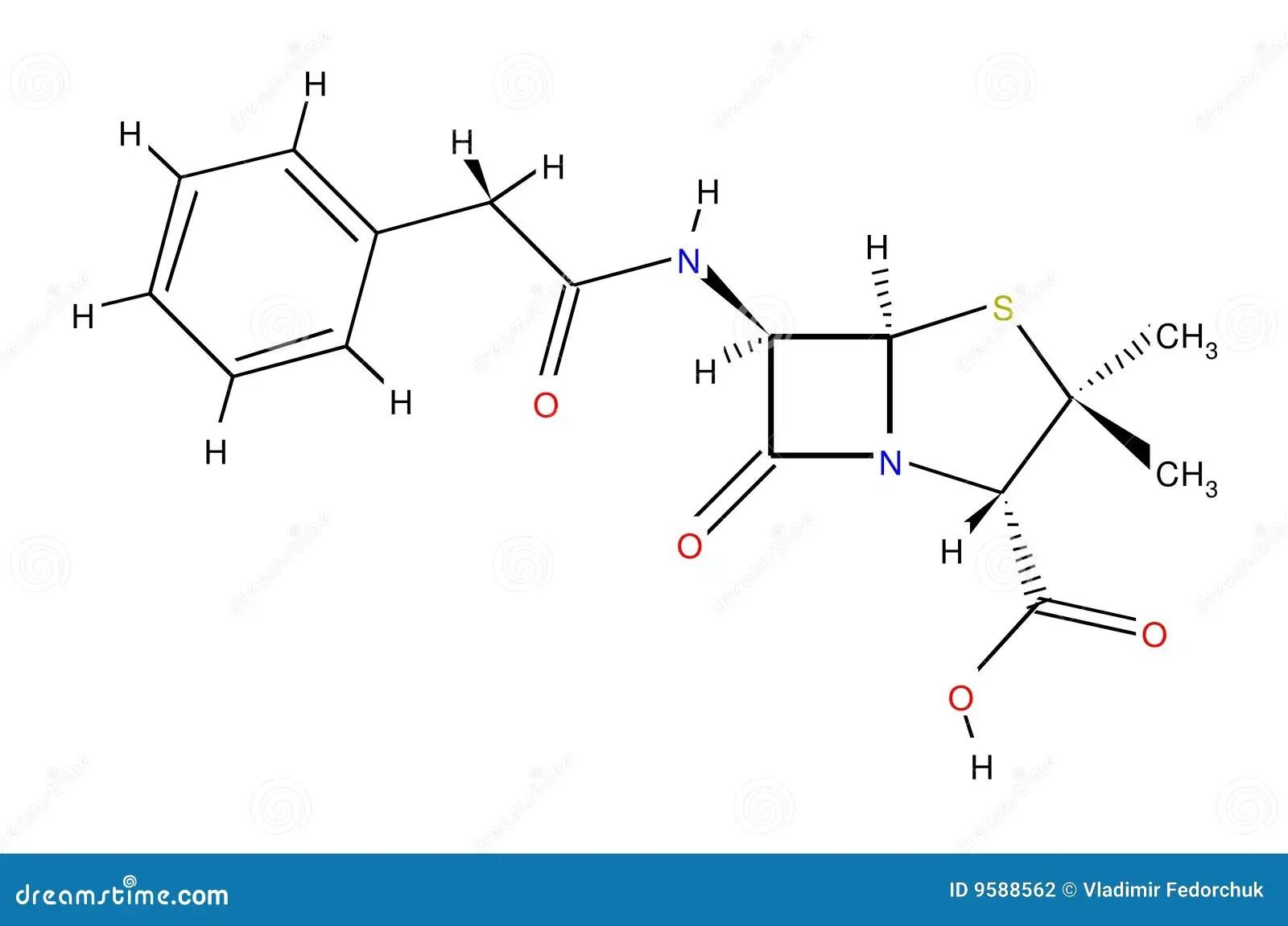 Penicillin Structural Formula Stock Illustration