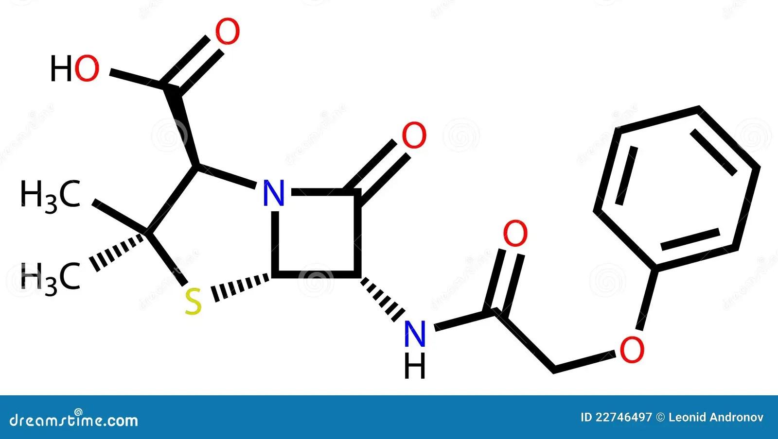 Penicillin V Structural Formula Royalty Free Stock
