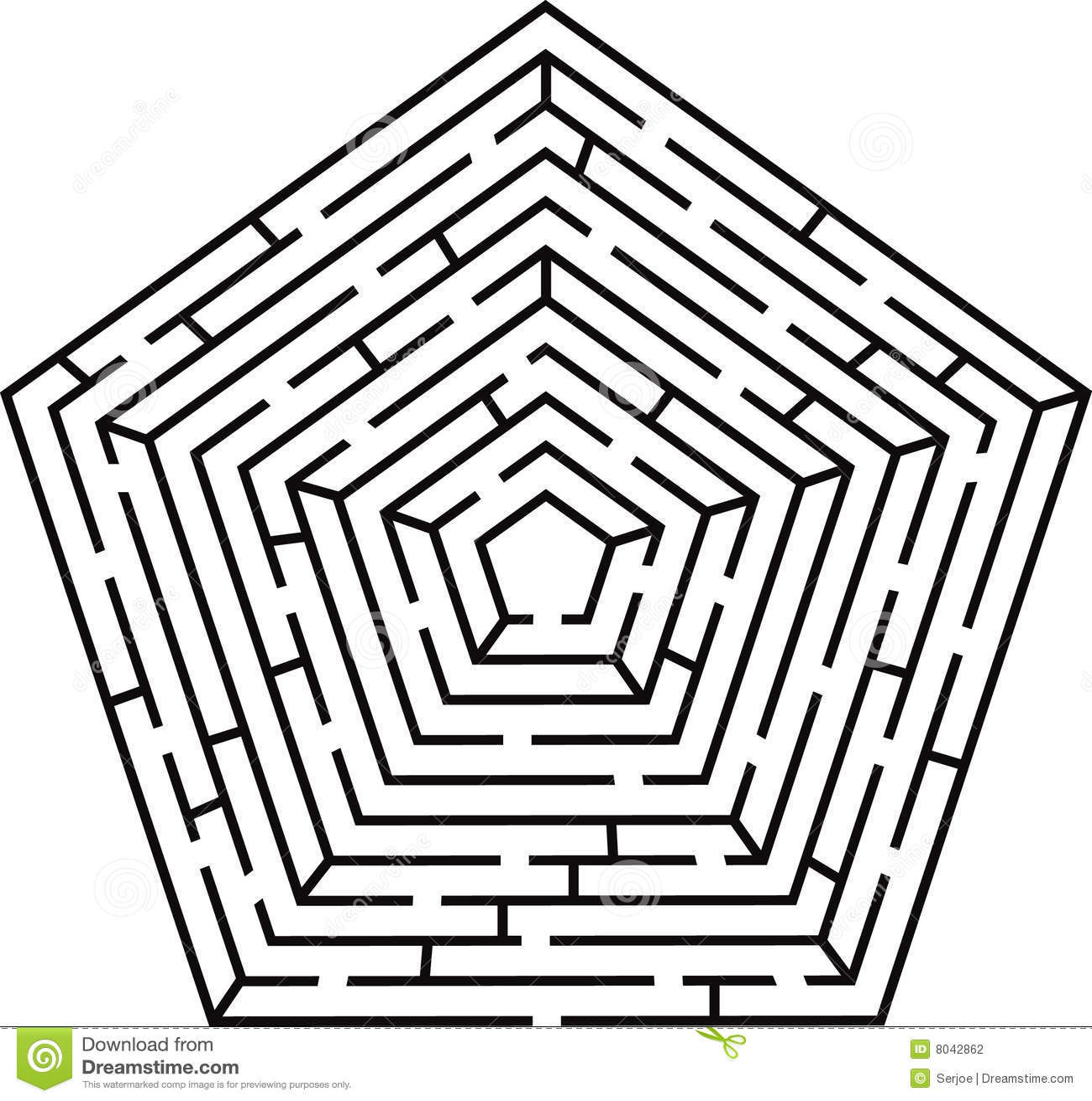 Pentagon Labyrinth Stock Vector Illustration Of Design