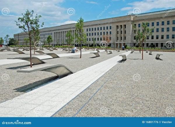 Pentagon Memorial In Washington Dc Editorial