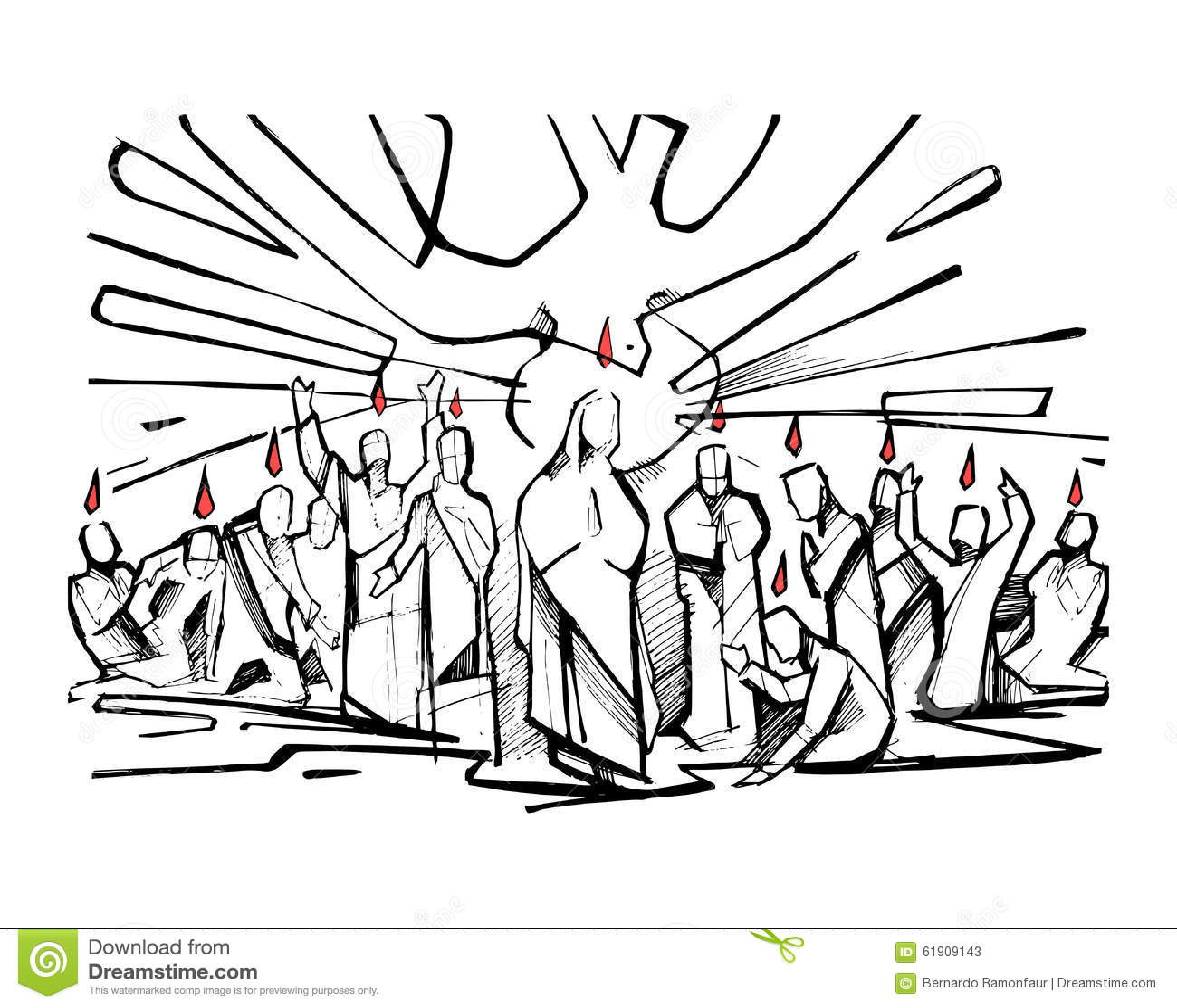 Pentecost stock vector. Illustration of christian
