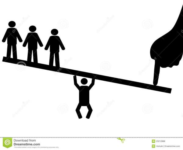 People balance on seesaw stock vector Image of design