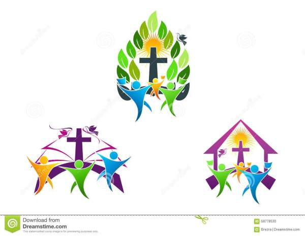 People Church Christian Logo Bible Dove And Religious