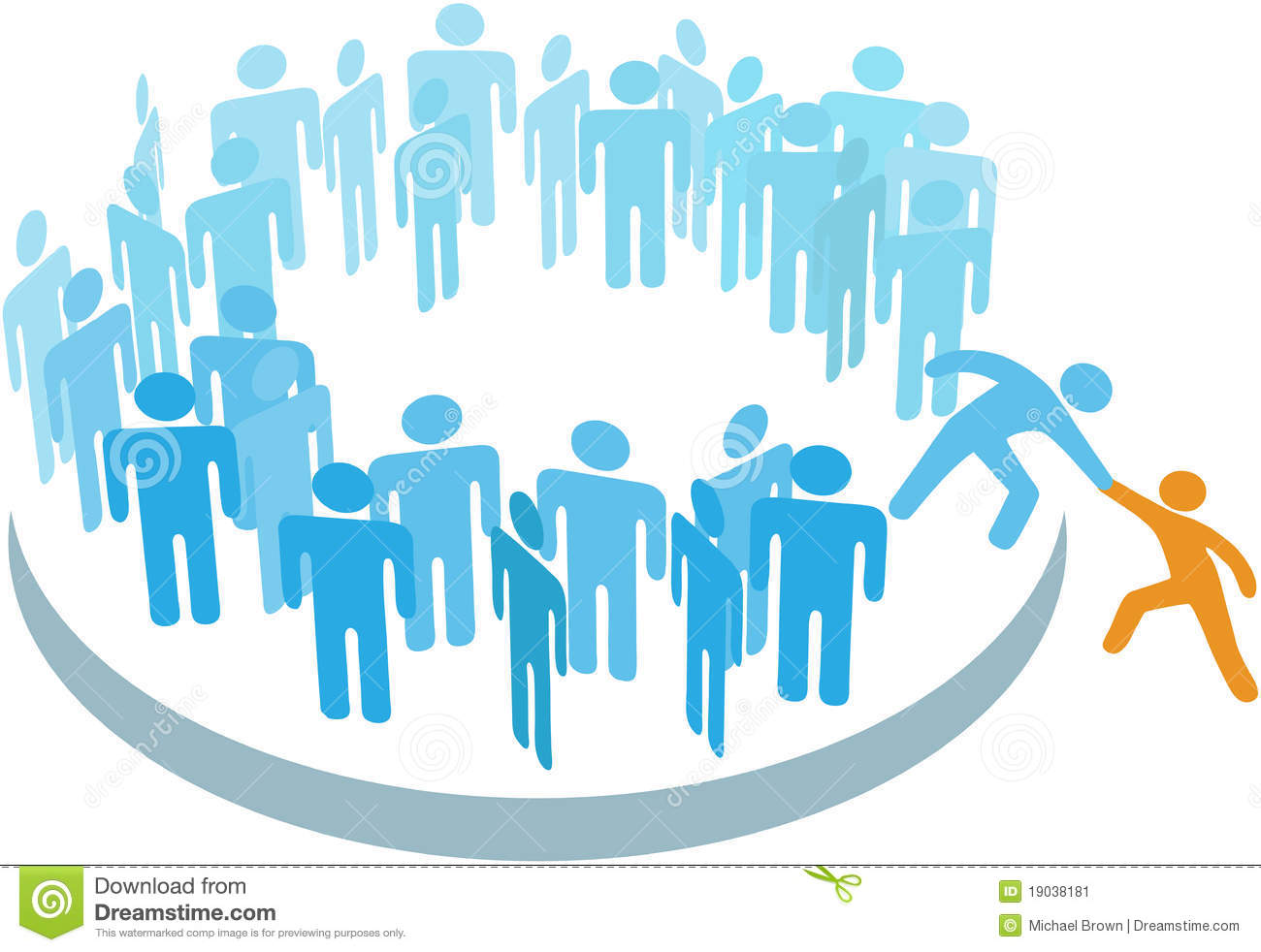 People Help New Member Join Large Group Stock Vector - Illustration of employee. apply: 19038181