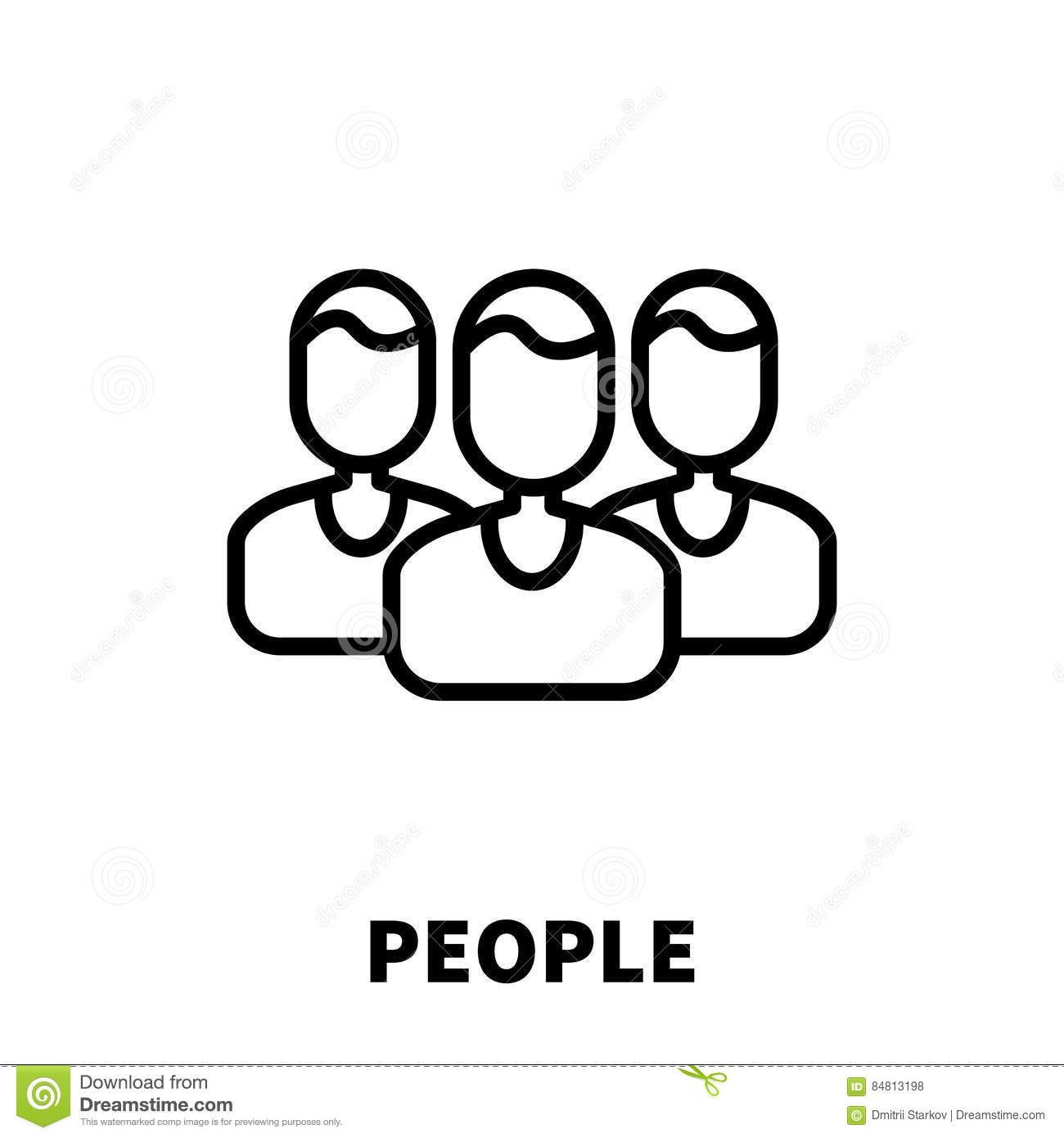 People Icon Or Logo In Modern Line Style. Stock Vector