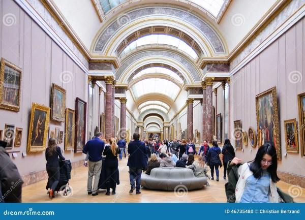 Inside Louvre Museum Paris France
