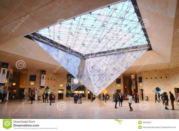 People Louvre Museum Musee Du Editorial - Of Culture