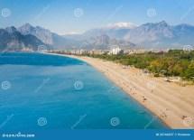 People Konyaalti Beach In Antalya Stock