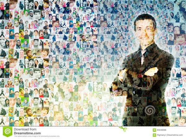People Mosaic Stock Illustration. Of Crossed