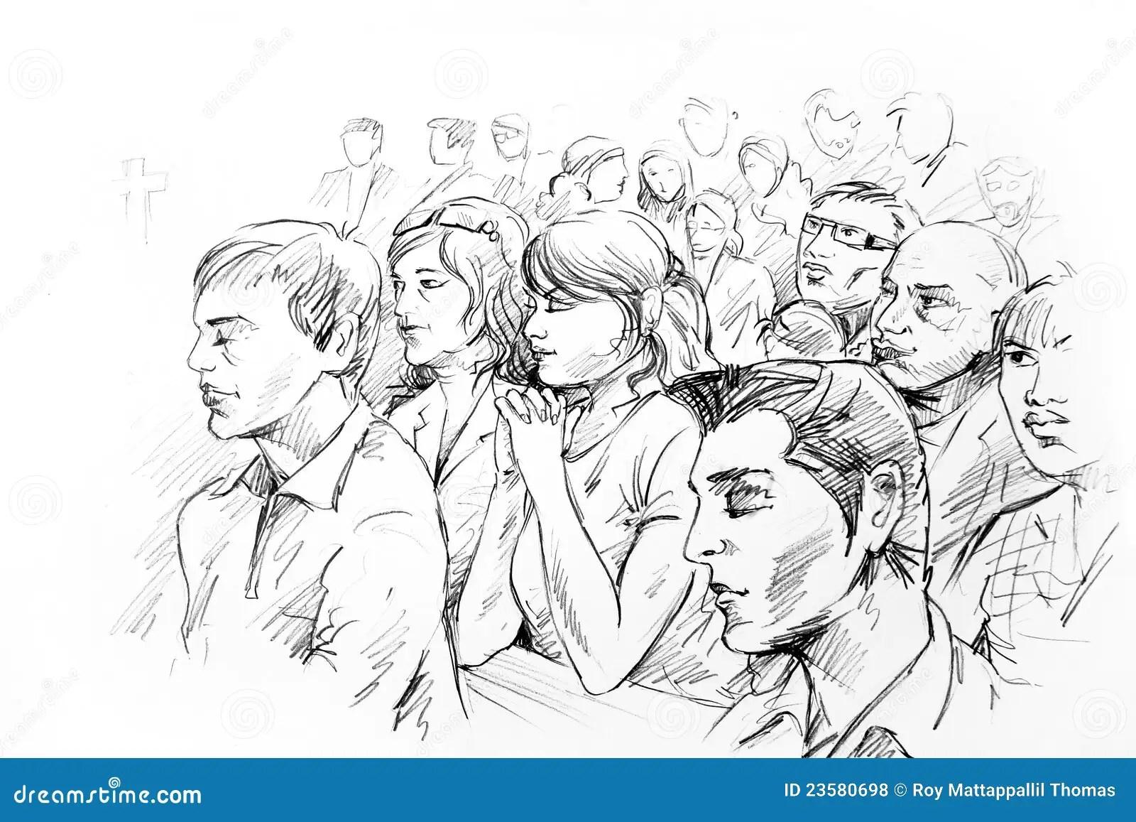 People Praying Stock Illustration Illustration Of