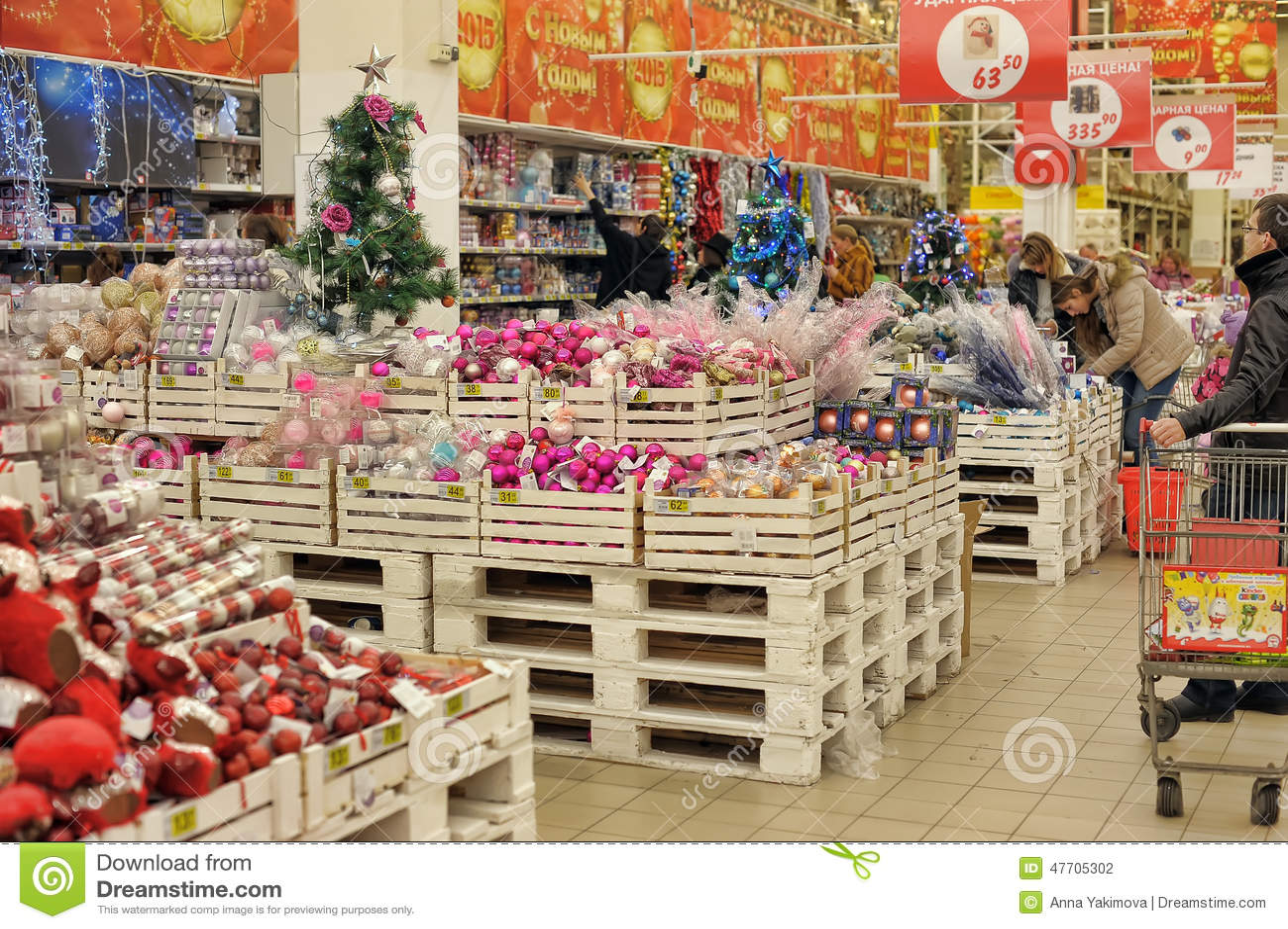 Christmas Shop Decoration Editorial Image Image Of