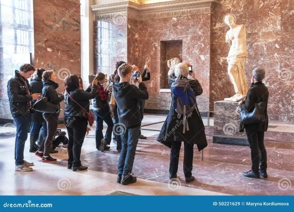 People Of Aphrodite Milos Louvre Museum. Editorial Stock