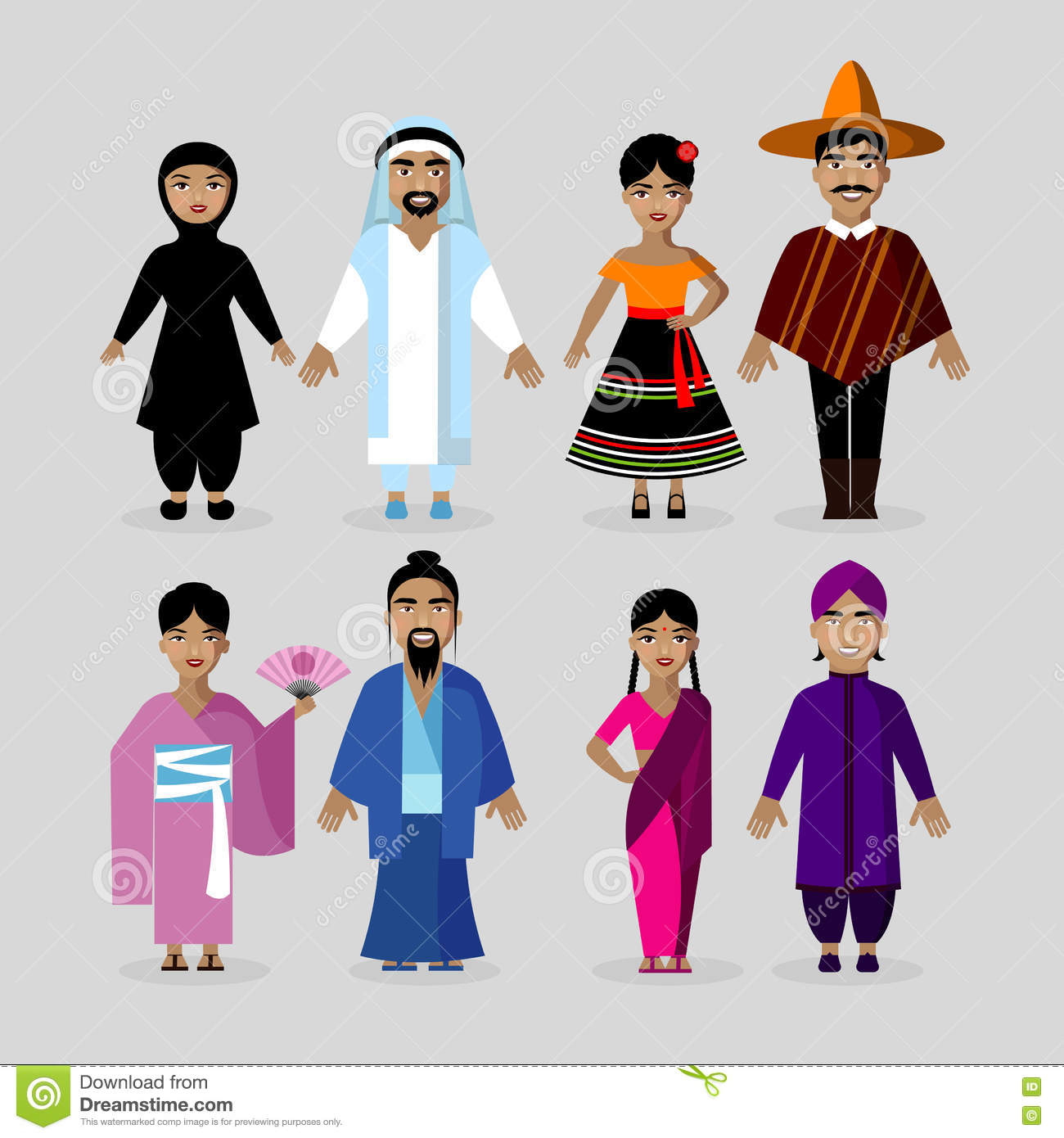 people in traditional costumes