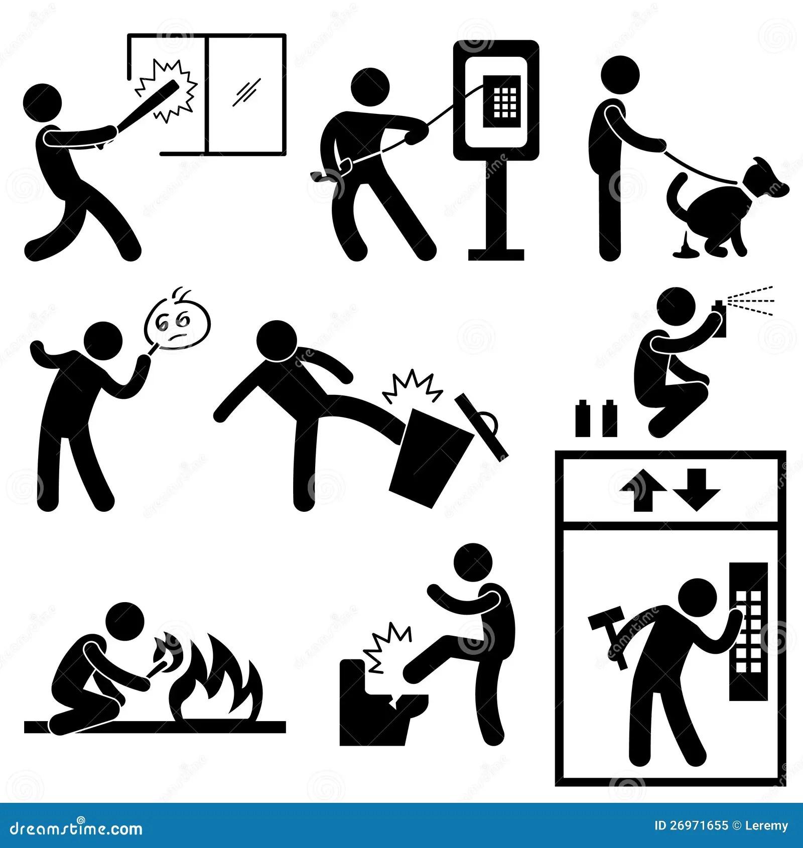 People Vandalism Violence Gangster Royalty Free Stock