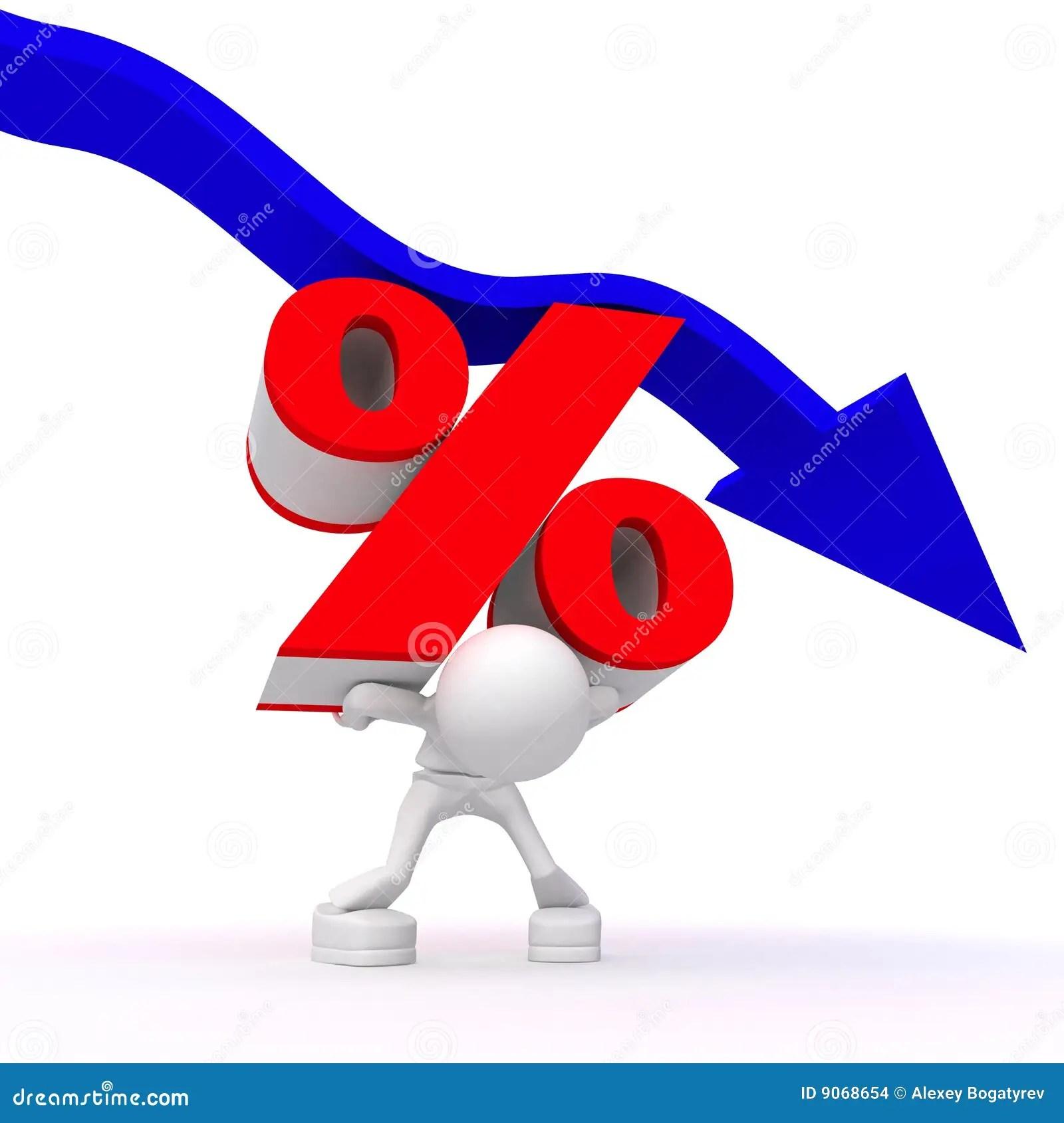 Percentage Rate Decrease Stock Illustration Illustration